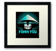 RAIDEN SKULL: I OHM YOU Framed Print