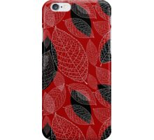 graphic texture of the leaves iPhone Case/Skin