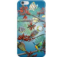 Fish, Feather & Flame Tree Flowers iPhone Case/Skin