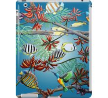 Fish, Feather & Flame Tree Flowers iPad Case/Skin