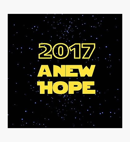2017 A New Hope Star Wars New Year Photographic Print