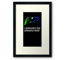 I survived the console war! Framed Print