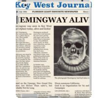 Hemingway Alive! iPad Case/Skin