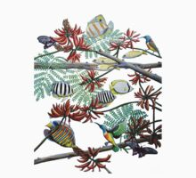 Fish, Feather & Flame Tree Flowers Kids Clothes