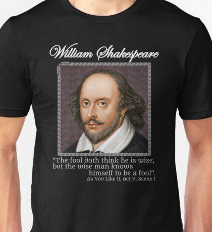 william Shakespeare - The fool Unisex T-Shirt