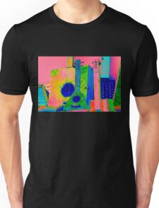 Picasso's Guitars in Pinks and Greens Unisex T-Shirt