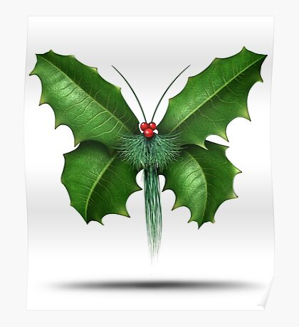 Holly Butterfly Poster