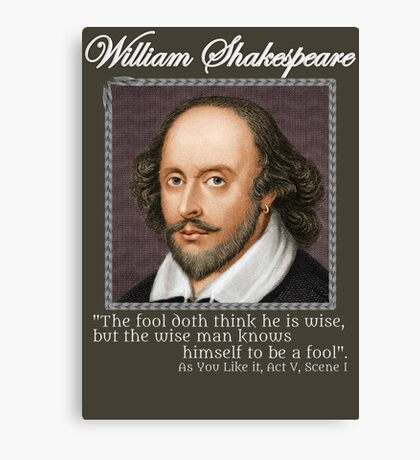 william Shakespeare - The fool Canvas Print