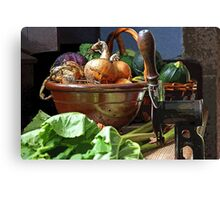 Onions in a Bowl Canvas Print