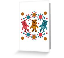 seamless pattern with children's teddy bears, illustration for children Greeting Card