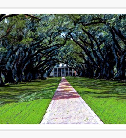 Oak Alley Plantation Louisiana Sticker