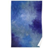 Moonlit Pool Blue modern abstract painting contemporary Poster