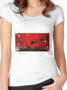 Santa city Women's Fitted Scoop T-Shirt