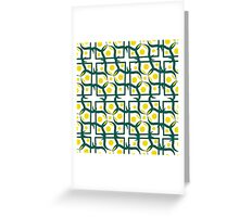 seamless pattern with yellow circle, diamond-shaped ornament, retro style. Greeting Card