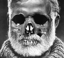 "Ernest ""Skull"" Hemingway by Ozan Sezgin"