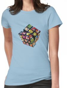 80s Cartoons Womens Fitted T-Shirt