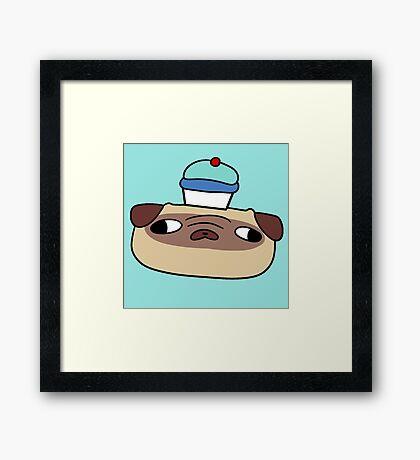 Cupcake Pug Face Framed Print