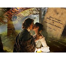 Wedding kiss collage  Photographic Print