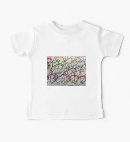 Colorful Oil Pastel Scribbles Baby Tee