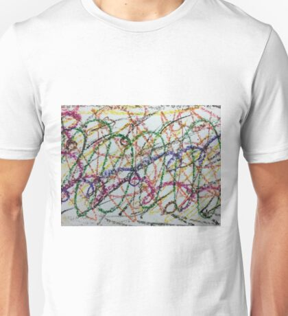 Colorful Oil Pastel Scribbles Unisex T-Shirt