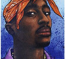 Tupac Shakur Hip Hop Portrait by Jef2D