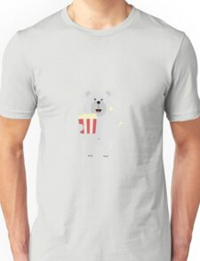 Polar Bear with popcorn Unisex T-Shirt
