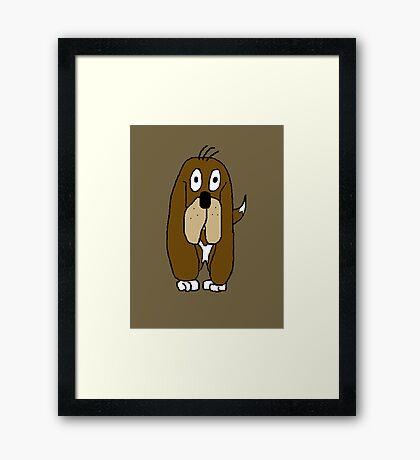Doug A Dawg Cartoon Framed Print