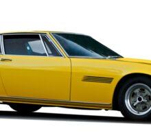 1967 Maserati Ghilbi isolated on white Sticker