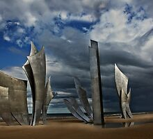 Les Braves on Omaha Beach by cclaude