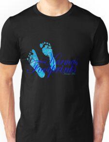 KARMAS FOOTPRINTS (BLUE) Unisex T-Shirt