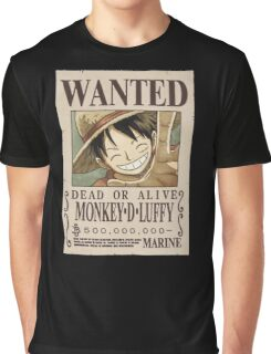 <ONE PIECE> Luffy Wanted Graphic T-Shirt