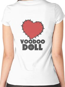 VIXX - voodoo doll heart Women's Fitted Scoop T-Shirt