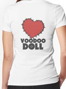 VIXX - voodoo doll heart Women's Fitted V-Neck T-Shirt