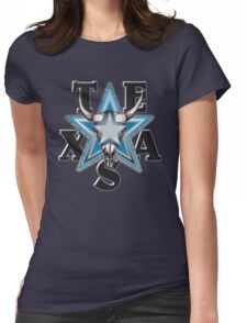 Lone Star Skull - Blk. Bkg. Womens Fitted T-Shirt