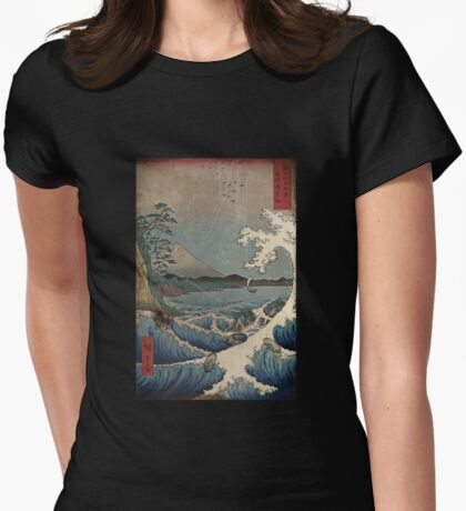 Fuji and the Sea of Satta  Womens Fitted T-Shirt
