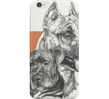 American Staffordshire Terrier, Father & Son iPhone Case/Skin