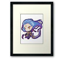 Cute Dark Valkyrie Diana - League of Legends! Framed Print