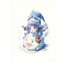 Cute Winter Wonder Lulu - League of Legends! Art Print