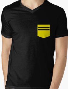 Pocket / Code: Yellow Mens V-Neck T-Shirt