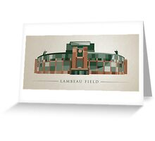Green Bay Packers   Lambeau Field   Polygonal Illustration Greeting Card