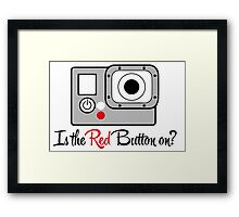 The Red Button Framed Print