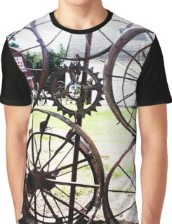 Rustic Wheels Photography Print Graphic T-Shirt