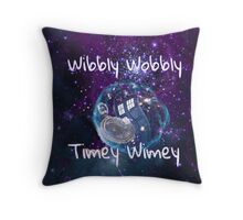 Wibbly Wobbly Throw Pillow