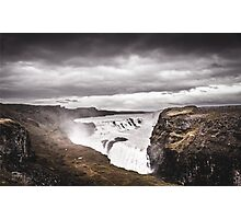Gullfoss Waterfall Photographic Print