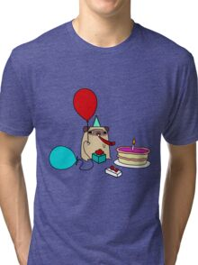 Birthday Pug Tri-blend T-Shirt