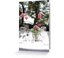 The wedding table Greeting Card