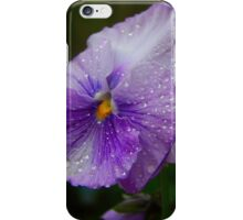 Rainy Day Pansy iPhone Case/Skin