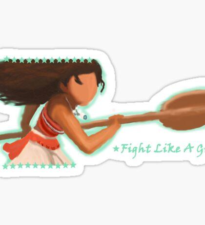 Moana - Fight Like A Girl Sticker