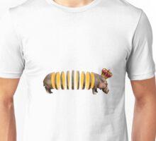 Hippo Sliced Up Orange Wearing Crown Unisex T-Shirt