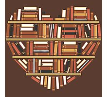 I Heart Books Photographic Print
